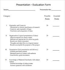 presentation survey examples presentation evaluation template forms presentation evaluation form