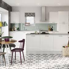 Shiny White Kitchen Cabinets Leighton Gloss White Kitchen Style Kitchens Magnet Trade