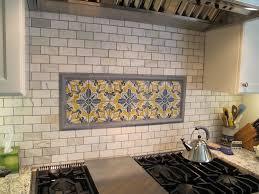 Rectangular Kitchen Tiles Kitchen Excellent Kitchen Decoration With Yellow Floral Tile
