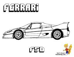 2009 Ferrari 599xx Coloring Page Sheet Tesouroliterariocom