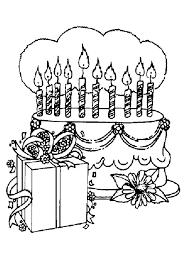 Kleurplaat Kadootjes En Een Taart Voor Een Kinder Verjaardag 7994