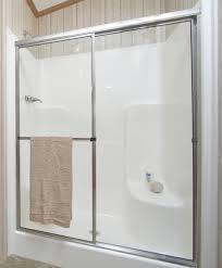 one piece shower stalls with glass doors doors ideas inside single piece shower stall