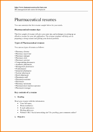 Pharmacy Technician Resume Objective Luxury Resumes Pharmacist