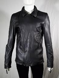 vintage barbara i gongini black leather motorcycle jacket 153552