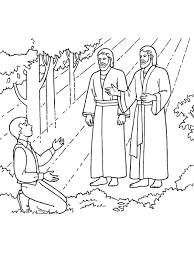 first vision 694942 print the first vision joseph sees god the father and jesus christ on the first vision coloring page