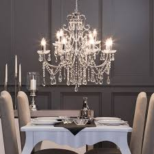 attractive dining room crystal chandeliers chandelier for adorable diningroom vintage table lamp french formal round lighting ideas kitchen and over modern