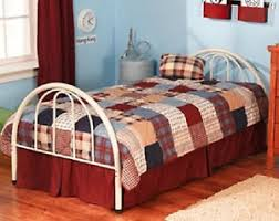 Twin Size White Platform Metal Bed Frame Head & Footboard - NO BOX ...