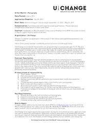Photographer Resume Objective Classy Photography Resume Objective With Photographer Resume 29
