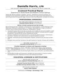 Licensed Practical Nurse Resume Sample Monste Sevte