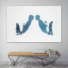 Modern <b>Wall Art</b> Poster Print Couples Love Abstract <b>Canvas Painting</b>
