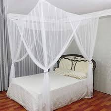 Amazon.com : WALLER PAA Summer Luxury 4 Corner Canopy Bed Mosquito ...