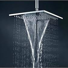 contemporary shower heads. Ceiling Waterfall Shower Head Inch Square Contemporary Bathroom Brass Chrome Mounted Rain Heads T