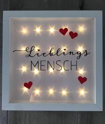 Beleuchteter Bilderrahmen Lieblingsmensch Led Rahmen Wanddeko