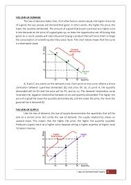 laws of demand and supply 3 laws of demand and supply