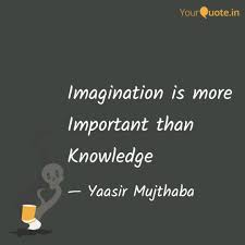 Imagination Is More Impor Quotes Writings By Yaasir Mujthaba