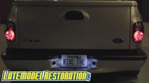 Installing Led License Plate Lights Svt Lightning Led License Plate Bulb Install 99 04 F 150