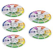 2x Coloring Matching Guide Color Wheel Mixing Chart For