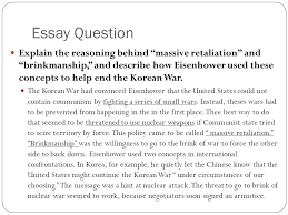 eisenhower s policies ppt  essay question