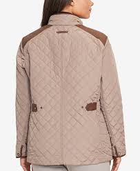 Lauren Ralph Lauren Plus Size Quilted Jacket - Coats - Women - Macy's &  Adamdwight.com