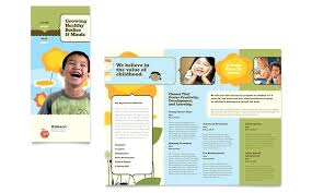 Brochure Template Microsoft Free Pamphlet Office Flyers Templates