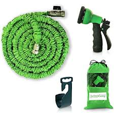 expandable garden hoses. Expandable Garden Hose - 50 Ft. Retractable, Lightweight \u0026 Flexible 8 Pattern Function Hoses S