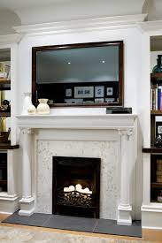 how to hang a big mirror over a mantel