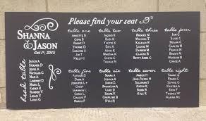 Blackboard Seating Chart Wedding Chalkboards Chalkboards Co