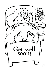 Feel Better Coloring Pages Balloon Get Well Soon Colouring Page Good