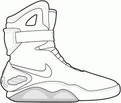 Coloring Pages Free Jordan Shoes Coloring Pages Retro Air
