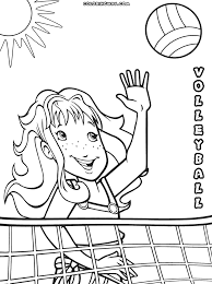 Volleyball Color Pages Volleyball Coloring Pages Coloring Pages To Download And Print
