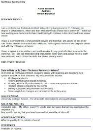 Technical Skills Cv Technical Architect Cv Example Icover Org Uk