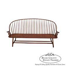 8650 Hunt Country Furniture Long Windsor Spindle Back Bench