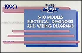 1990 chevy s 10 pickup blazer wiring diagram manual original