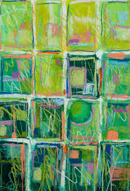 Carol Engles Art: Lime Quilt, abstract mixed media green quilt by ... & 11 x 16 mixed media on paper. Wow! This is really green. So much fun to do.  I previously posted