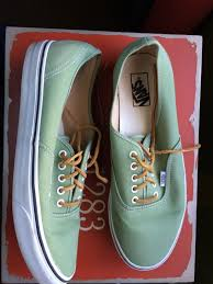 vans with leather laces sz 12