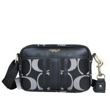 Coach Monogram Small Black Crossbody Bags DPK