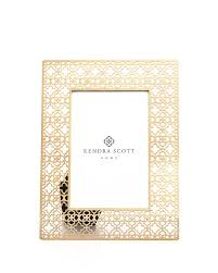 4x6 filigree photo frame in bright brass
