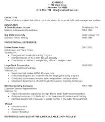 resume examples military a good example of a resume