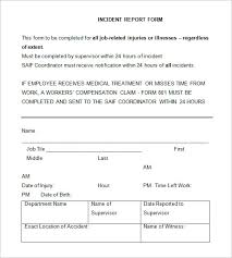 Incident Report Form Template Qld 37 Incident Report Templates Pdf