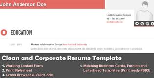 20 Free Resume/cv Html Website Templates And Layouts - Designmodo