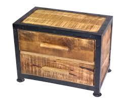 contemporary rustic furniture. Modern Rustic Bedside Table - Pair (2 Tables) Contemporary Furniture