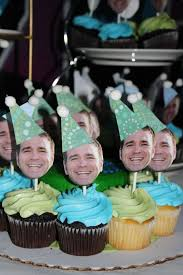 Photo Cupcake Toppers For Your Husbands 30th Birthday
