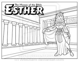 Small Picture Esther coloring page by ArtistXerodeviantartcom on deviantART