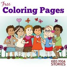 Coloring Pages For Kids Kids Yoga Stories Yoga Stories For Kids