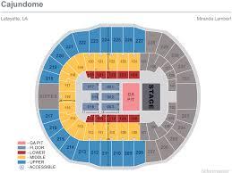 Miranda Lambert Seating Chart Miranda Lambert Cajundome
