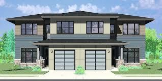 Modern 4 Bedroom House Designs D Modern Prairie Duplex House Plan 4 Bedroom  Master On The
