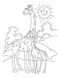 Coloring Page Of A Giraffe Giraffe Coloring Pages Giraffes Coloring