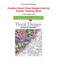 Creative Haven Floral Design Color By Number Coloring Book Pdf Creative Haven Floral Design Color By Number Coloring