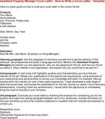 Cover Letter For Assistant Property Manager Free Download Bunch Ideas Entry Level Property Management