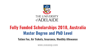 master degree and doct research scholarship in south australia fully funded